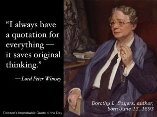 Lord Peter Wimsey quote
